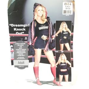 Dreamgirl Knock Out 7 pc sexy boxer costume L